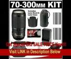 Nikon 70-300mm f/4.5-5.6G ED IF AF-S VR Digital SLR Zoom Lens with HB-36 Hood & Pouch Case + 2 EN-EL3e Battery Packs + Nikon Case + Accessory Kit for D90, D300, D300s, D700 FOR SALE