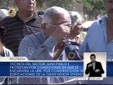 Vecinos de Montalbán protestan contra daños generados por la Misión Vivienda