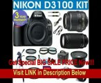 BEST PRICE Nikon D3100 Digital Camera + Nikon 18-55 VR Zoom Lens + Nikon 70-300 Telephoto Zoom Lens + .40x Super Wide Angle Fisheye Lens + 2x Telephoto Lens + 4 Piece Macro Kit + 16GB Memory Card + 3 Year Celltime Warranty
