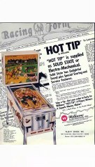 HOT TIP Pinball Table (Williams 1977) - Pinburgh 12 C Division Final (Game 2)
