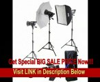 SPECIAL DISCOUNT Interfit INT448 Stellar X 600 Watt/Second 3 Head Kit with Softbox, Umbrella and B