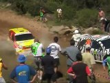 WRC Crash & Dangerous overtaking in the river (WRC Story -Rally Italy Sardinia 2005)