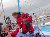 Départ du Vendée Globe de JP Dick , skipper de Virbac-Paprec 3