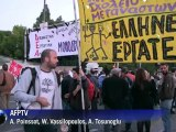 Grèce: manfestation contre le budget 2013