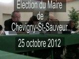 Election de M rotger nouveau maire de Chevigny-St-Sauveur
