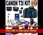 [BEST PRICE] Canon EOS Rebel T3i 18 MP CMOS Digital SLR Camera and DIGIC 4 Imaging with EF-S 18-55mm f/3.5-5.6 IS Lens +58mm 2x Telephoto lens + 58mm Wide Angle Lens (3 Lens Kit!!!!!!) W/32GB SDHC Memory+ Extra Ba