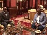 Audience accordée par le Président Ali Bongo Ondimba au Ministre des Affaires Etrangères du Burkina-Faso