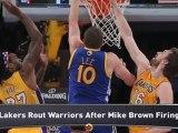 Lakers Crush Warriors; Knicks Edge Mavs