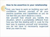 Importance Of Assertiveness In Relationships