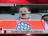 Sonia Gandhi in Shimla addresses Congress rally, attacks BJP