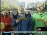 Gréve Européenne Générale  contre l'austérité et les Banksters 2012-11-15 Telesur