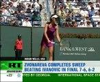 Zvonareva triumphs at Indian Wells