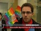Reportage TV Vendée sur le rassemblement pour l'égalité des droits à La Roche-sur-Yon le 17/11/12