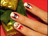 Yılbaşı Noel Baba Manikürü Oje Uygulama Christmas Nails Santra Claus