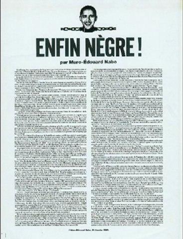 """Enfin Nègre !"" Marc-Edouard Nabe"