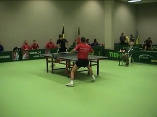 Match de coupe d'europe ETTU Nancy Evans