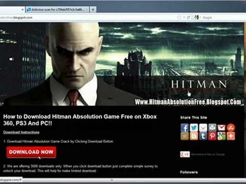 Hitman Absolution Game Skidrow Crack Free Download