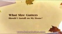 Gutter Replacement Or New Gutters Fairfax & Alexandria: What Size Rain Gutters