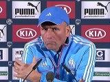 Conférence de presse Girondins de Bordeaux - Olympique de Marseille : Francis GILLOT (FCGB) - Elie BAUP (OM) - saison 2012/2013