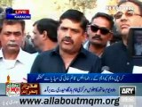 MQM leaders took part in  mourning processions visited camps set up by KKF