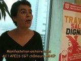 10e manifestation de lutte des chômeurs et précaires le 1er décembre 2012