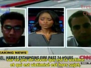 Interview croisée entre un palestinien et un israëlien sur CNN