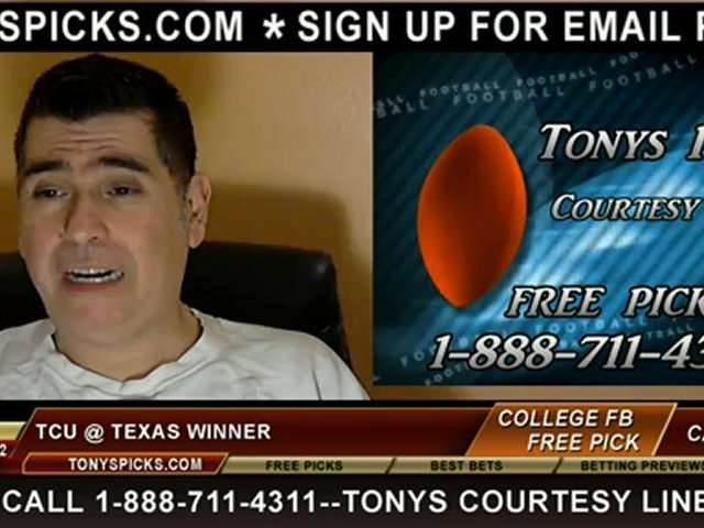 TCU Horned Frogs versus Texas Longhorns Pick Prediction College Football  Odds Preview 11-22-2012