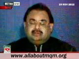 Altaf Hussain appeal Shia & Sunni scholars to preach brotherhood & harmony in their sermons & speeches to Majalis