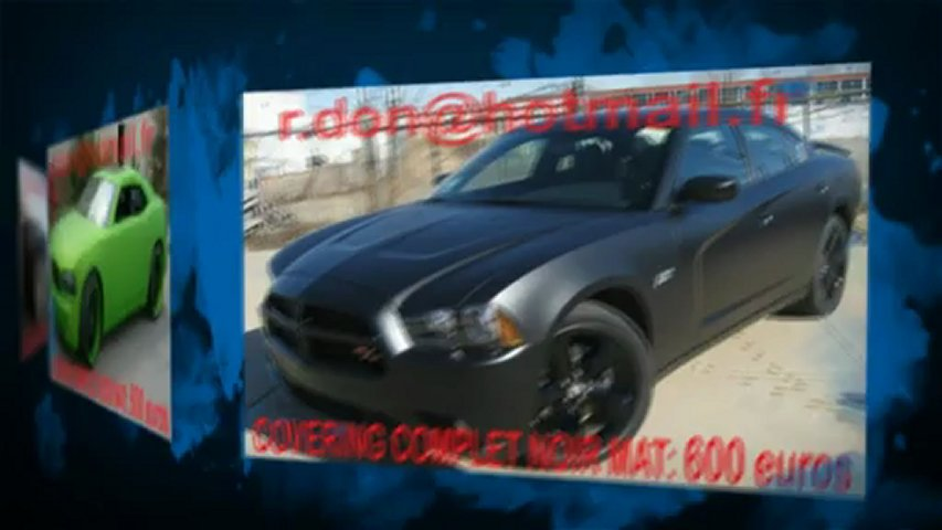 Dodge Charger, Dodge Charger, Essai video Dodge Charger, covering Dodge Charger, Dodge Charger noir mat
