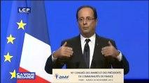 """Reportages : Mariage homosexuel : François Hollande évoque """"la liberté de conscience des maires"""""""