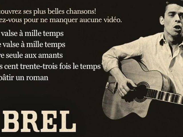 Jacques Brel - La valse à mille temps - Paroles (Lyrics)