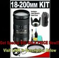 [SPECIAL DISCOUNT] Nikon 18-200mm f/3.5-5.6G AF-S VR II ED Lens with HB-35 Hood & Pouch Case + UV Filter + Accessory Kit for Nikon D60, D90, D3000, D3100, D5000, D7000, D300S, D700 & D3S Digital SLR Cameras
