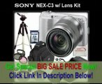 [BEST PRICE] Sony Alpha NEX-C3 Digital Camera (Silver) with Sony E-Mount 18-55mm Lens + SSE Professional Package. Includes: 0.45x Wide Angle Lens, 2x Telephoto lens, 3 Piece Filter Kit (UV,CPL,FLD,) 16GB SDHC Memo