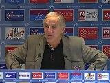 Conférence de presse Montpellier Hérault SC - Girondins de Bordeaux : René GIRARD (MHSC) - Francis GILLOT (FCGB) - saison 2012/2013