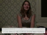"""""""L'EAU DOUCE QUI COULE DANS MES VEINES"""" : présentation du projet par l'actrice Elodie Vagalumni"""