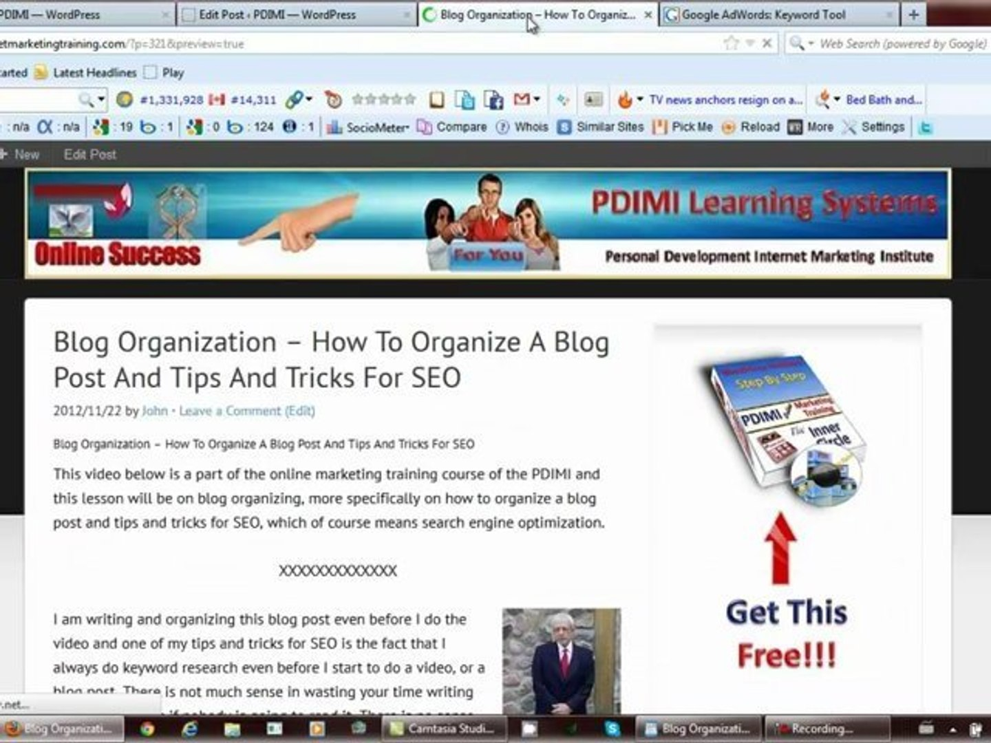 Blog Organization - How To Organize A Blog Post And Tips And Tricks For SEO