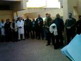 la fac des sciences UMPO Oujda / sit-in des professeurs de la fac des sciences  solidarité avec ghazza