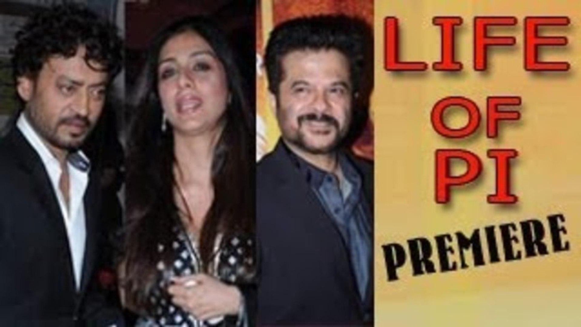 Life of Pi India Premiere - Irrfan Khan, Tabu & Anil Kapoor