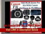 [FOR SALE] Canon EOS Rebel T3i Digital 18 MP CMOS SLR Cameras (600D) with Canon EF-S 18-55mm f/3.5-5.6 IS Lens & Canon EF 75-300mm f/4-5.6 III Telephoto Zoom Lens + SSE Premium SLR Lens Accessory Package