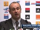 """P. Saint-André: """"Les 24 joueurs qui ont participé aux tests ont marqué des points"""""""