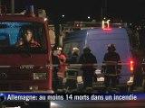 Allemagne: 14 morts dans l'incendie d'un atelier d'handicapés