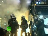 Austerity Arena: Greek protesters throw Molotov cocktails, police fire tear gas