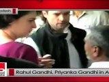 Rahul Gandhi, Priyanka Gandhi visit Amethi