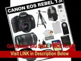[SPECIAL DISCOUNT] Canon EOS Rebel T3i Digital SLR Camera Body & EF-S 18-55mm IS II Lens with 55-250mm IS Lens + 16GB Card + .45x Wide Angle & 2x Telephoto Lenses + Tripod + Case + Battery + Remote + (2) Filters + Acces