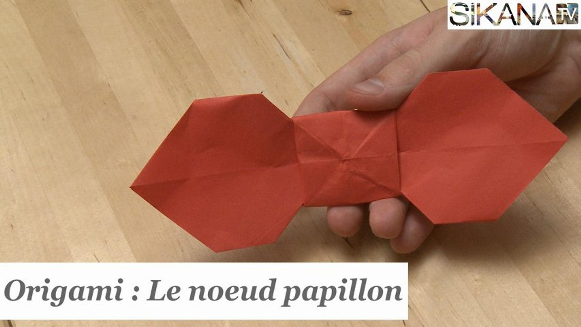 spécial chaussure qualité supérieure codes promo Origami : Comment faire un noeud papillon en papier ? - HD