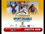 3a Conferenza Sport Disabile in DIRETTA WEB