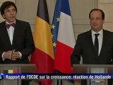 Hollande minimise les mauvais chiffres de l'OCDE