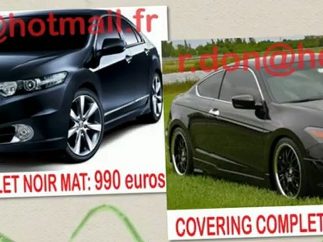 Honda Accord, Honda Accord, essai video Honda Accord, Honda Accord covering, Honda Accord peinture noir mat