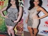 Hot Zarine Khan and Nathalia Kaur in Lacey in Dress