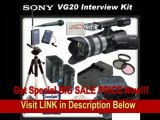 [SPECIAL DISCOUNT] Sony NEX-VG20H Interchangeable Lens HD Handycam Camcorder With Sony 18-200mm E-mount Lens + Interview Package - Includes: Wireless Lapel & Handheld Microphone Set, 3 Piece Filter Kit (UV,CPL,FLD), 32G